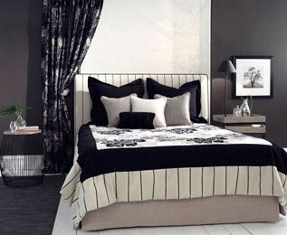 Roller Blinds and curtain combination for bedroom window