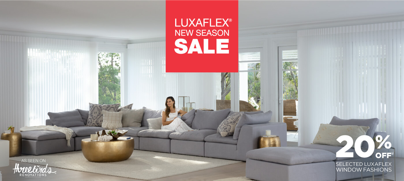 Luxaflex Blinds and Awnings Spring Sale Poster