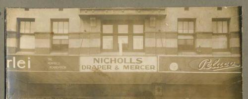 Nicholls Drapery Storefront in Brighton in 1930