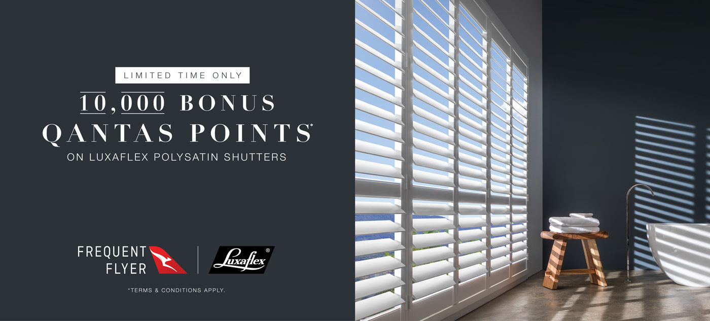 Luxaflex Satin Shutters Promotion
