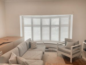 Five Panel Bay Window with Plantation Shutter