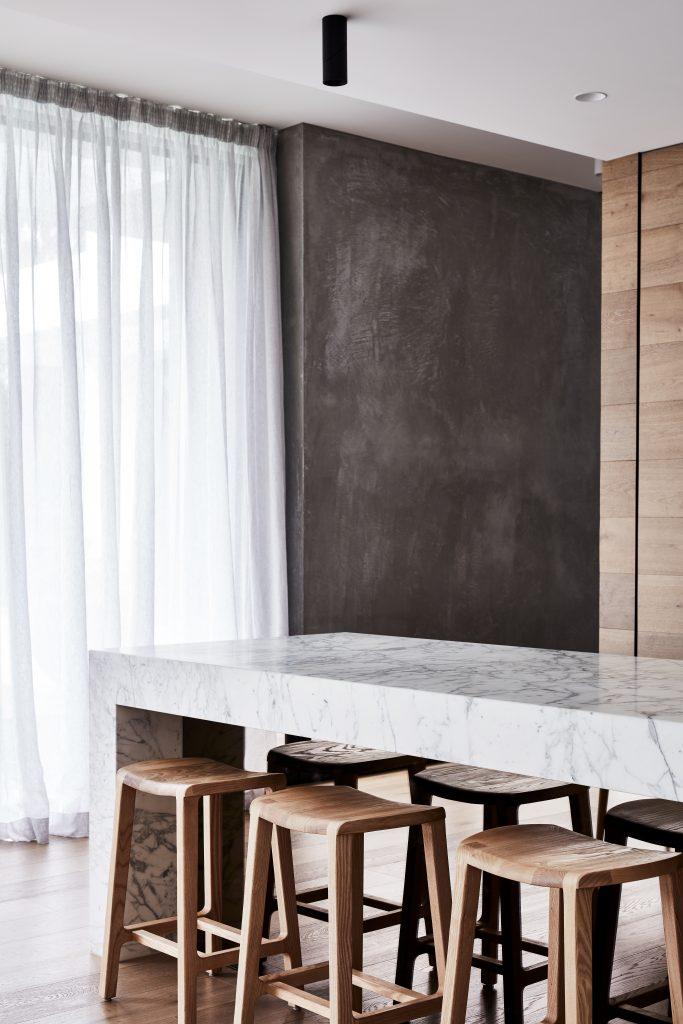 Linen curtain modern home installation