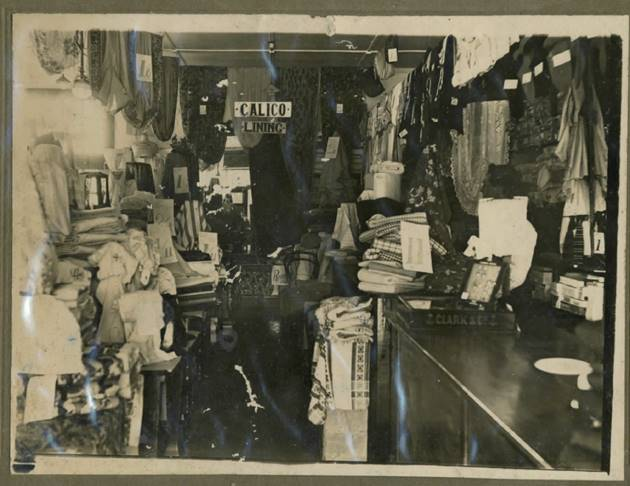 Vintage photo from 1950s of the interior of Nicholls Brighton Retail store