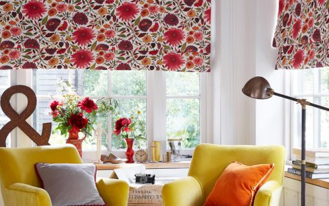 Roman Blinds Luxury Floral