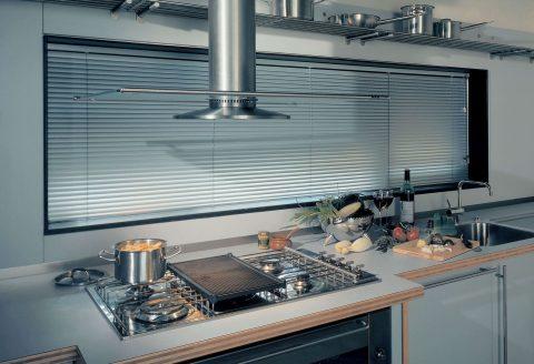 Aluminium Venetians in Kitchen