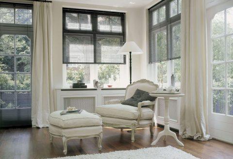 Aluminium Venetian Blinds in sunny sitting room
