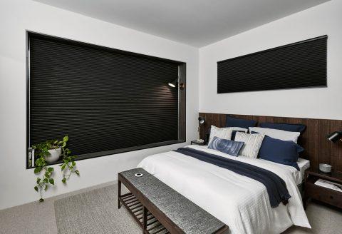 Duette luxaflex dark bedroom blind