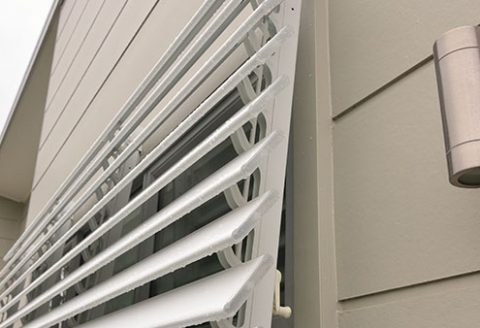 Luxafle Outdoor Shutter installation on wind out window