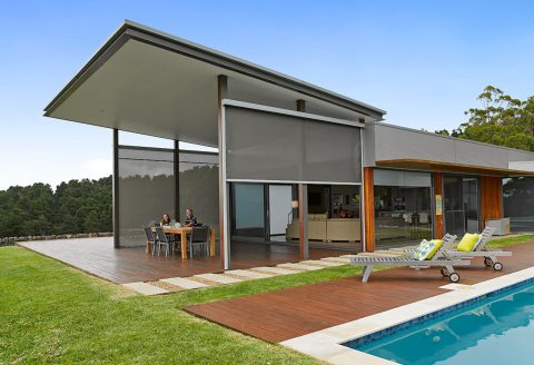 Straight Drop Wall style Outdoor Awnings in Alfresco Space